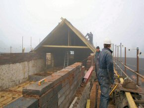 Conversion off four properties at Smeatharp on a miserable foggy day
