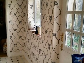 Wallpapering at Ash Priors, Taunton